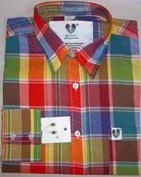 Multicolor Checks Cotton Formal Shirts