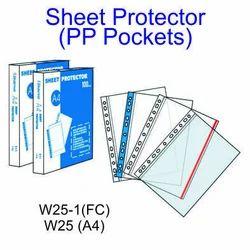 P P Sheet Protectors A4 & FC