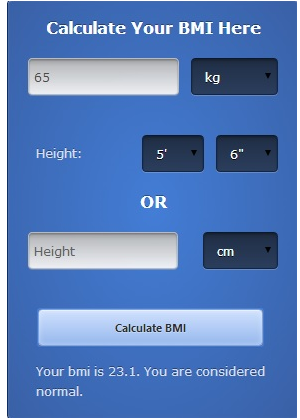 BMI Calculator App - View Specifications & Details of