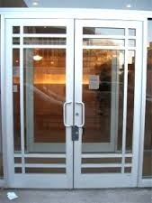 Glass and Aluminum Door