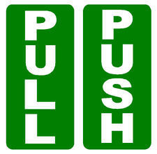 Online - Pull Push Stickers (Set of 2)