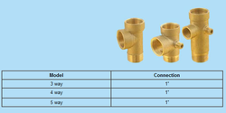 5 Way Brass Connectors