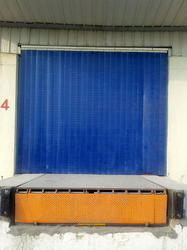 Plain Blue PVC Strip Curtains, For Door, Thickness: 5-10 Mm