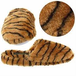 Tiger Print Bedroom Slippers