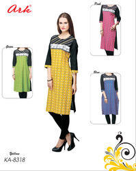 Bird Printed Cotton Kurti By Ark