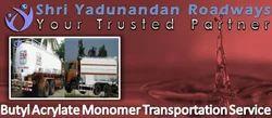 Stainless Steel Tankers By Road Butyl Acrylate Monomer Transportation Service Kandla Hazira Port
