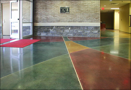 Colored Concrete Flooring Concrete Flooring Coating