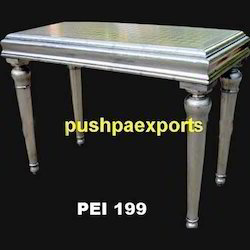 White Metal Writing Table