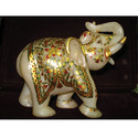 Solo Elephant In White Stone