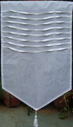 White Curtain With Pleats