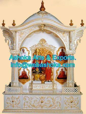 Wooden Temple With Marble Finish Ashoka Arts Exports Udaipur