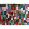 Handmade Brick Patchwork Kantha Quilt