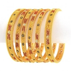 Gold bangles in kolkata west for Salon decor international kolkata west bengal