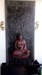 Buddha Statue Wall Waterfalls Water Fountain
