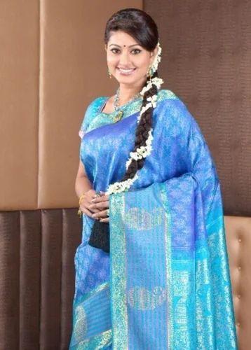 70c14505027a4c Silk Saree - Cream With Merun Colored Pure Silk Saree Trader from Coimbatore
