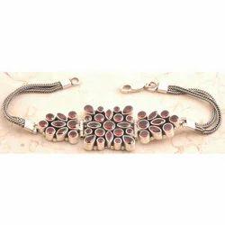 Garnet Bracelet in 925 Sterling Silver