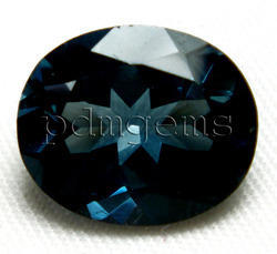 London Blue Topaz Oval Cut Gemstone