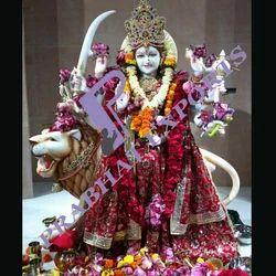 Hand Carved Marble Hindu Goddess Durga