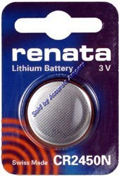 Renata Cr2450n 3v Lithium Battery Swiss Made