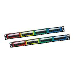 Cat 6 24 Port Patch Panel with Colored Bezel