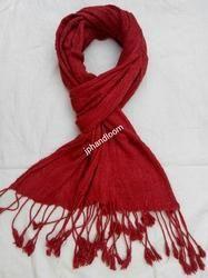 Dyed Eri Silk Crinkle Stole