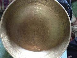 Tibetan Singing Bowl Chakra Carving