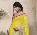 Cotton Pink Fashion Designer Sarees, With Blouse Piece, 5.5 M (separate Blouse Piece)