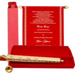 Manufacturer of Envelope In Itenary Scroll Wedding Cards by Card