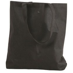 Black Plain Promotional Non Woven Tote Bags