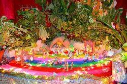 Temple Decoration Flower Decoration For Durga Puja Service