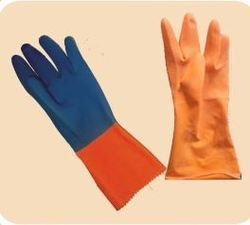 FERRA KING, HATIX Flock lined Rubber Hand Gloves, for Construction/Heavy Duty Work