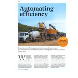 Article on Batching Plant in Construction Week