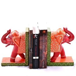 Painted Set Of Book Ends Elephants