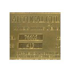 Brass Etching Name Plate