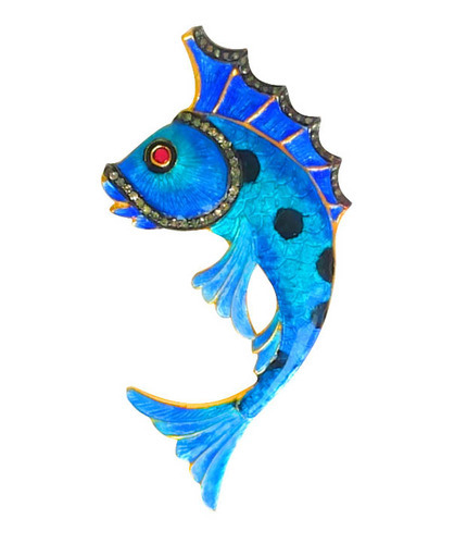 Gold plated 925 silver fish pendant sona chadha laket gold plated 925 silver fish pendant aloadofball Image collections