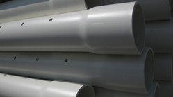 Black PVC Perforated Pipe