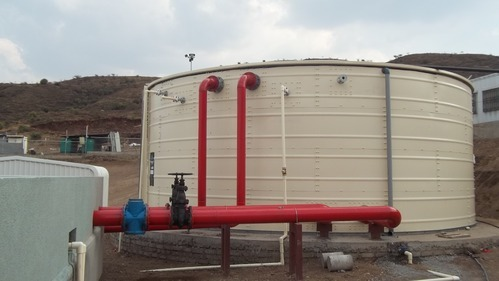 CREAM Metal Fire Protection Water Storage Tanks, Capacity: 30000l - 5000000l, Capacity(Litre): 30000-5000000, Rs 500000 /unit | ID: 10266773812