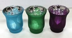 Peacock Range Big Bell Glass Candle Holder