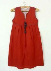 Tassel Tie Sleeveless Linen Dress