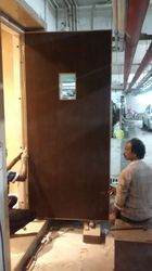 Wood Hinged Promate Wooden Fire Door, Size/Dimension: 1200mm*2100mm