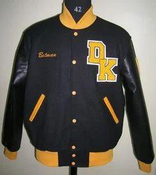 Black Varsity Jacket With Dk Patch