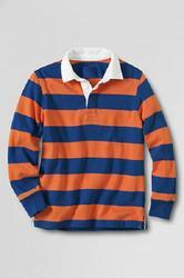 Mens Yarn Dyed Striped Rugby Polo Shirts