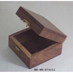 Square Polished Natural Wood Box, Proper Packing, for Packaging