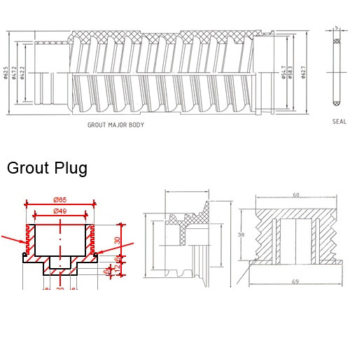 Threaded Lifting/ Grouting Sockets