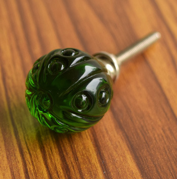Image of: Green Glass Cabinet Knobs Throughout Antique Depression Glass Style Cabinet Drawer By Urbandetail