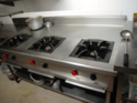 Stainless Steel 3 Burner Gas Range And 2 Burner Gas Range, For Commercial
