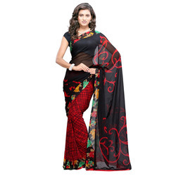 Designer Party Wear Printed Saree