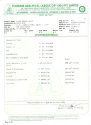 6. Standard Analytical laboratory Certificate