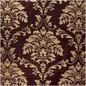 Printed Damask Velvet Fabric