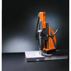 Metal Core Drilling With Heavy Metal Plates.